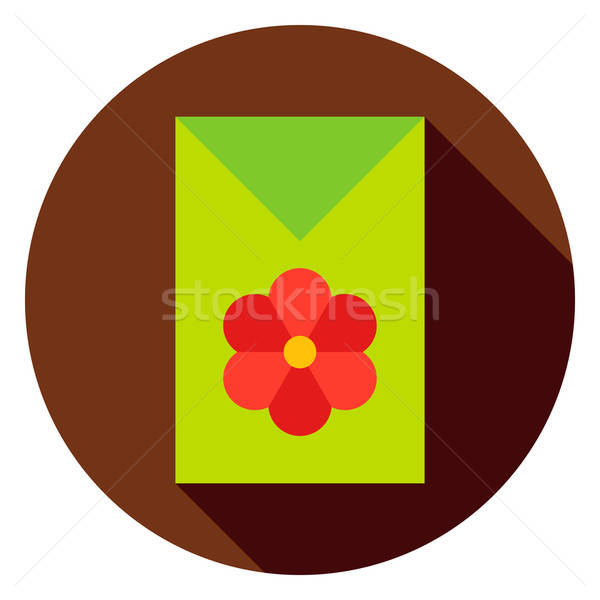 Flower Garden Seeds Package Circle Icon Stock photo © Anna_leni