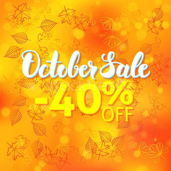 October Sale Promo Concept Stock photo © Anna_leni
