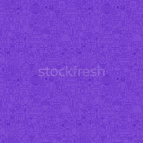 Violet Line Party Seamless Pattern Stock photo © Anna_leni