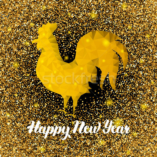 Polygonal Chinese New Year Rooster Stock photo © Anna_leni