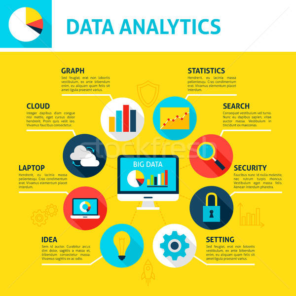 Data Analytics Infographic Stock photo © Anna_leni