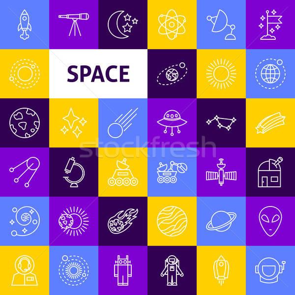 Vector Space Line Icons Stock photo © Anna_leni