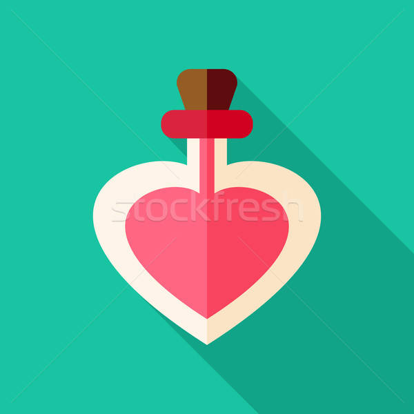 Love poison bottle with heart shape Stock photo © Anna_leni
