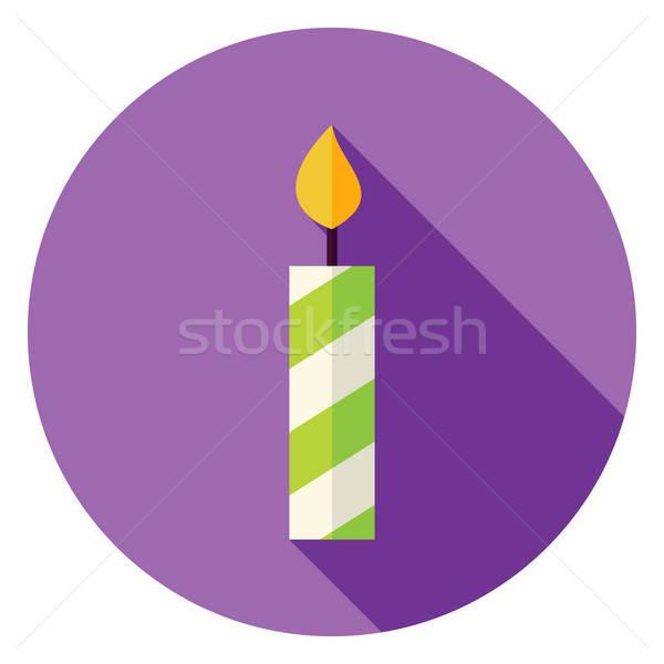 Сток-фото: дизайна · свечу · круга · икона · долго · тень