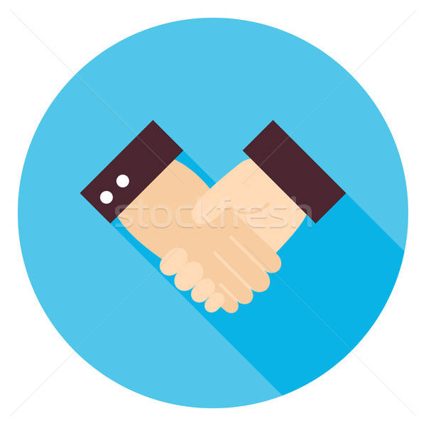 Business Handshake Circle Icon Stock photo © Anna_leni