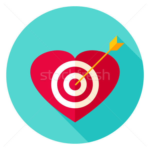 Heart Target Circle Icon Stock photo © Anna_leni