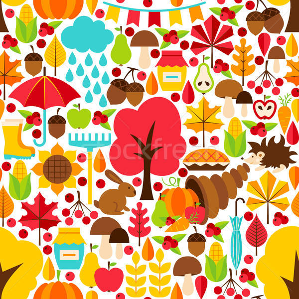 Stock photo: Autumn Seamless Pattern