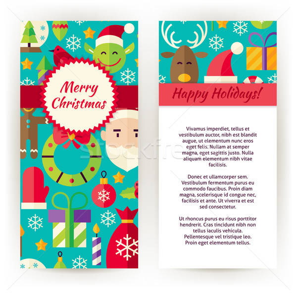 Vector Flyer Template of Merry Christmas Objects and Elements Stock photo © Anna_leni