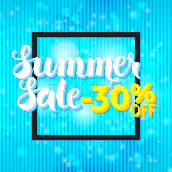 Summer Sale Lettering Blue Abstract Stock photo © Anna_leni