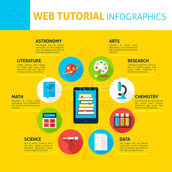 Web Tutorial Concept Infographics Stock photo © Anna_leni