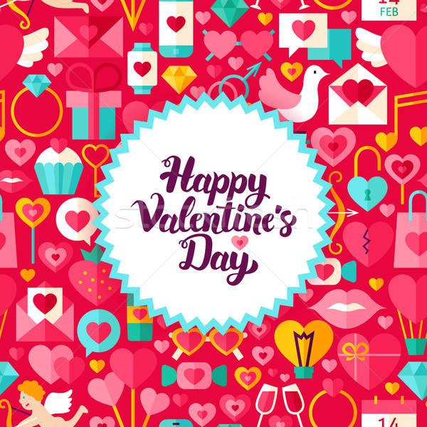 открытки стиль любви праздник плакат Сток-фото © Anna_leni