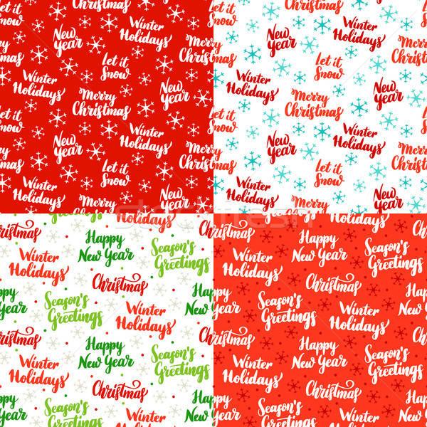 Stock fotó: Karácsony · végtelenített · minták · ünnep · boldog · új · évet · boldog · absztrakt