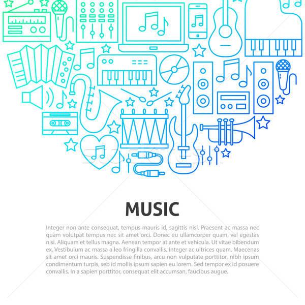 Music Line Concept Stock photo © Anna_leni