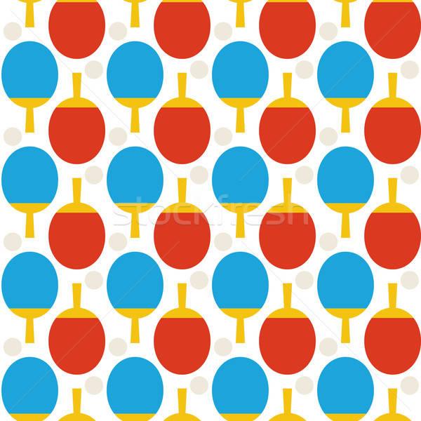Naadloos sport tennis ping pong patroon stijl Stockfoto © Anna_leni