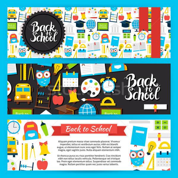 Back to School Horizontal Banners Stock photo © Anna_leni