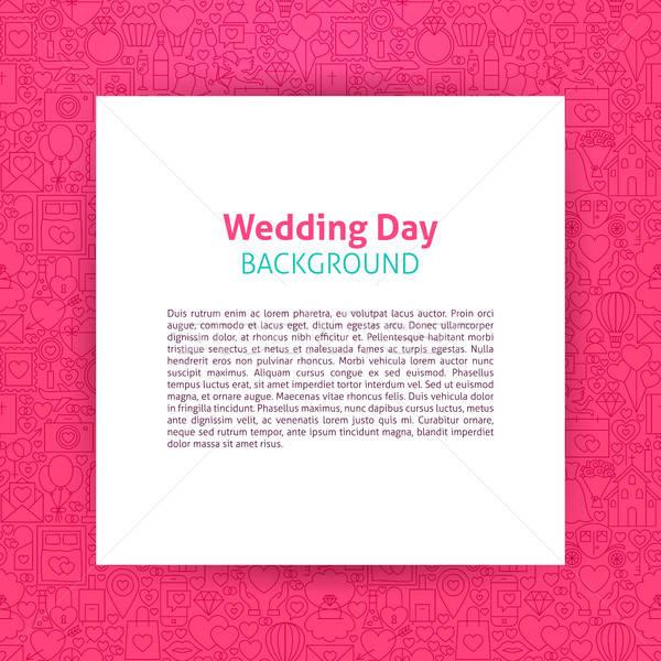 свадьба день бумаги шаблон любви Сток-фото © Anna_leni
