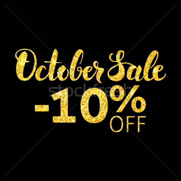 October Sale Gold and Black Concept Stock photo © Anna_leni