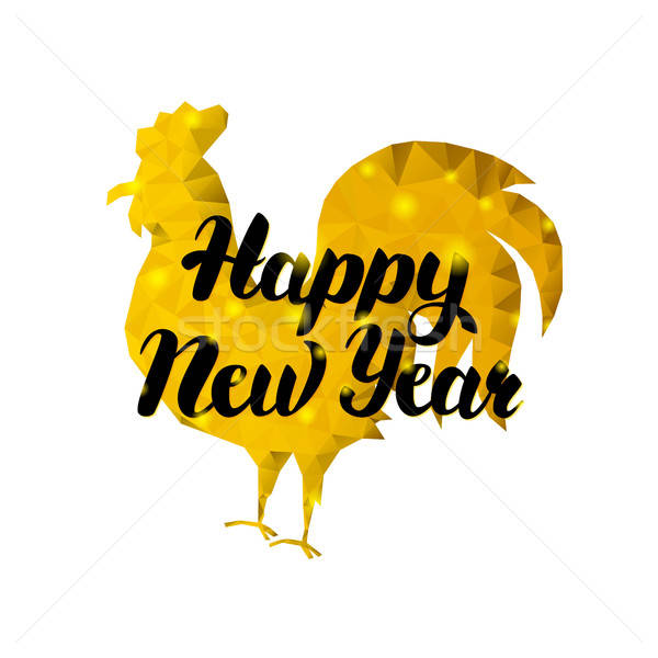 Feliz ano novo galo ouro inverno férias chinês Foto stock © Anna_leni