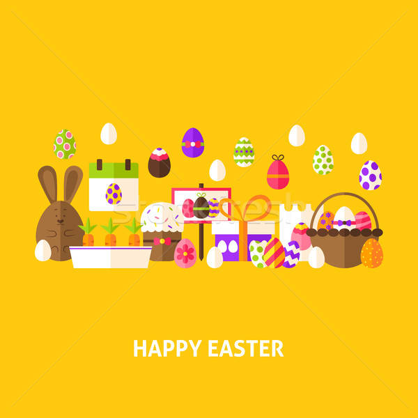 Happy Easter Greeting Card Stock photo © Anna_leni