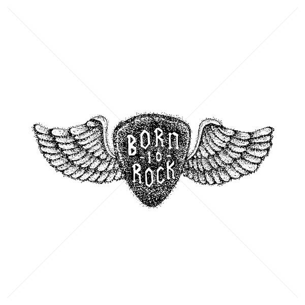 Dotwork Born to Rock Stock photo © Anna_leni