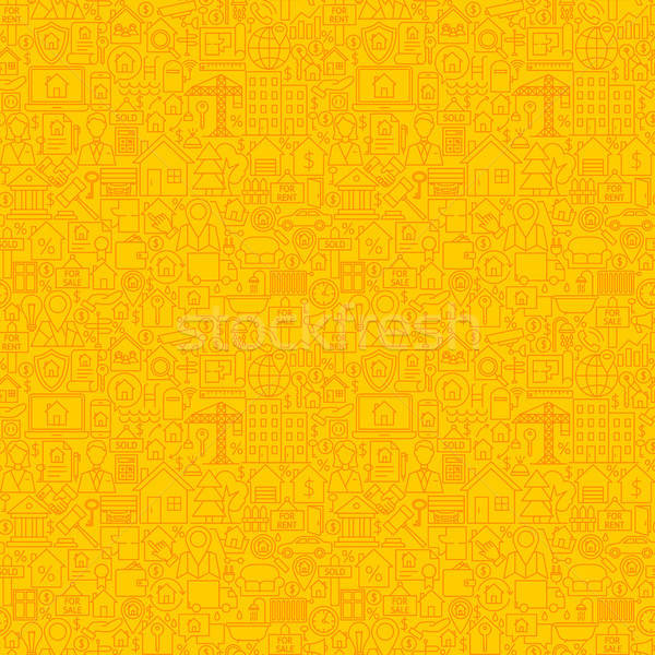 Yellow Line Real Estate Seamless Pattern Stock photo © Anna_leni