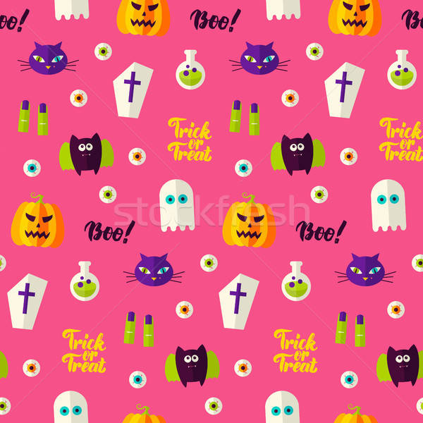 Halloween Boo Seamless Pattern Stock photo © Anna_leni
