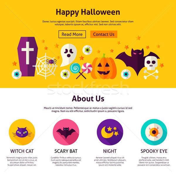 幸せ ハロウィン Webデザイン テンプレート スタイル ウェブサイト ストックフォト © Anna_leni