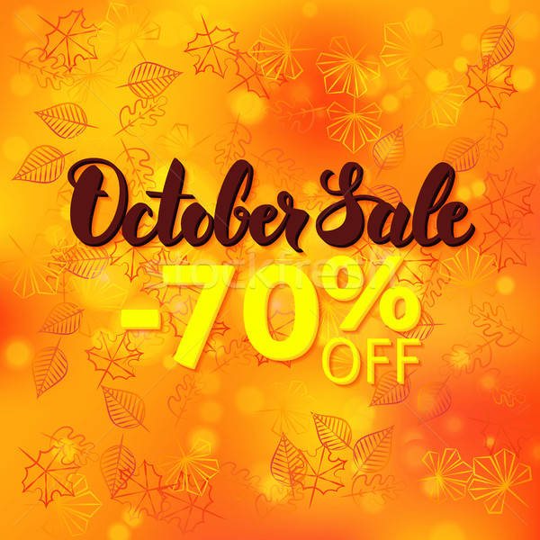 October Sale Promotion Stock photo © Anna_leni
