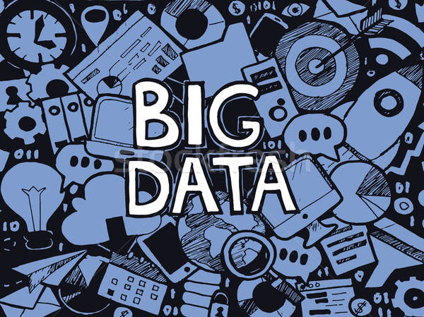 Big Data Doodle Sketch Stock photo © Anna_leni