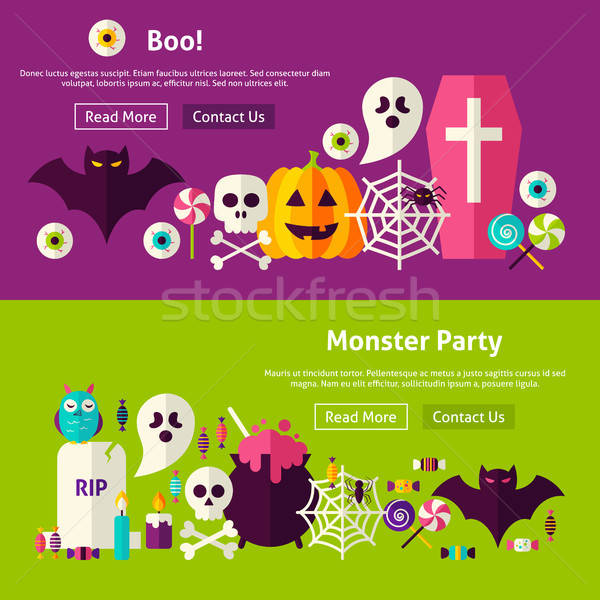 Scary Party Website Banners Stock photo © Anna_leni