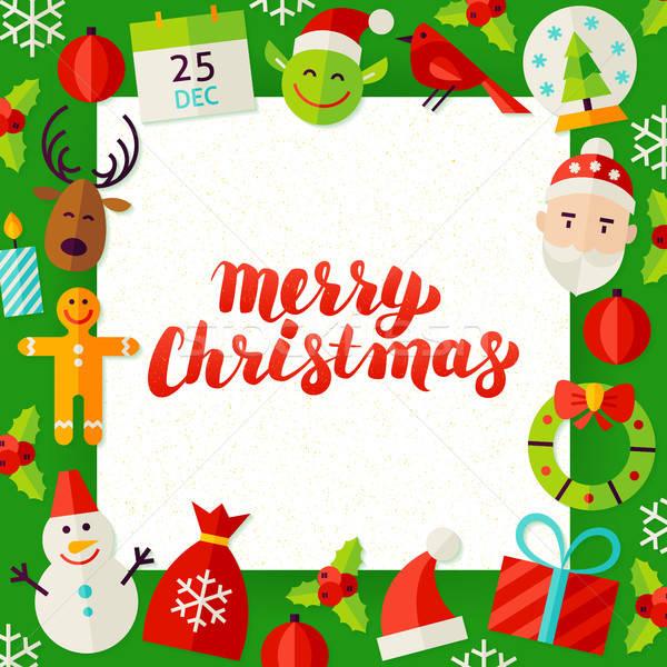 Merry Christmas Paper Template Stock photo © Anna_leni