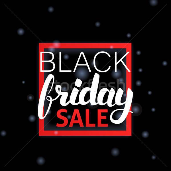 Black Friday Sale Lettering in Frame Stock photo © Anna_leni