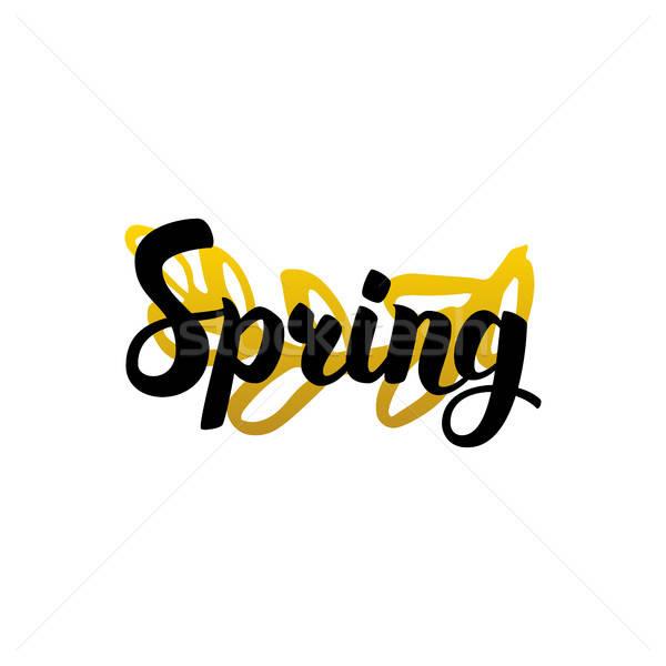 Handwritten Lettering Spring Stock photo © Anna_leni
