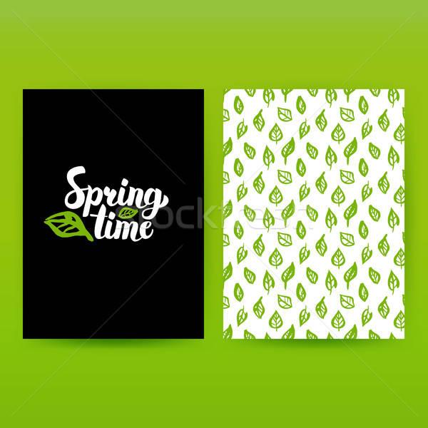 Spring Time Green Poster Stock photo © Anna_leni