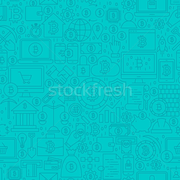 Blue Cryptocurrency Line Tile Pattern Stock photo © Anna_leni