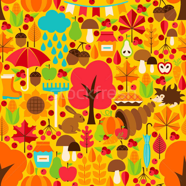 Autumn Season Seamless Pattern Stock photo © Anna_leni