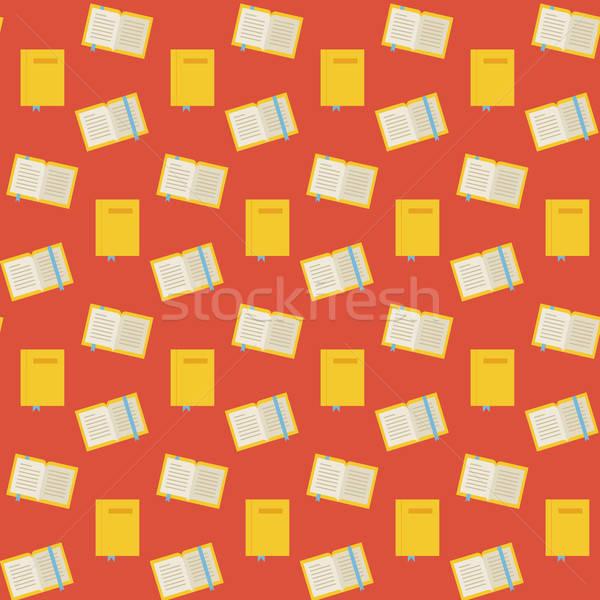 Vektor végtelen minta sok könyvek stílus textúra Stock fotó © Anna_leni