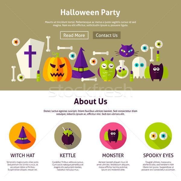 Halloween Party Web Design Template Stock photo © Anna_leni