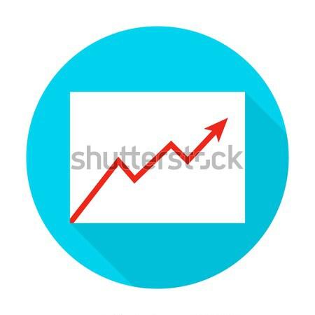 Growth Graph Flat Circle Icon Stock photo © Anna_leni