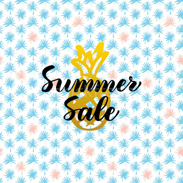 Summer Sale Card Design Stock photo © Anna_leni