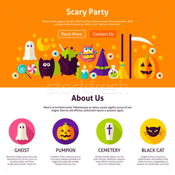 Scary Party Web Design Template Stock photo © Anna_leni