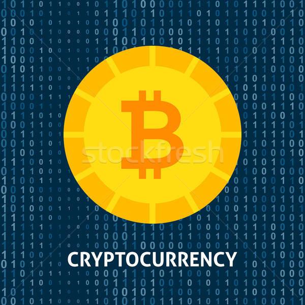 Moeda bitcoin financeiro tecnologia objetos negócio Foto stock © Anna_leni