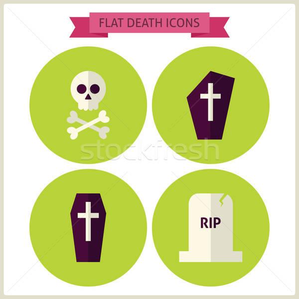 Halloween ölüm web sitesi toplama büyü Stok fotoğraf © Anna_leni