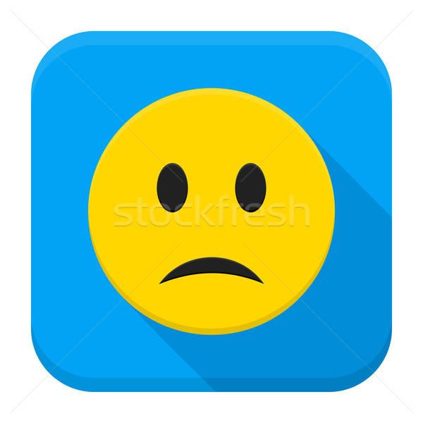Sad Yellow Smiley App Icon Stock photo © Anna_leni
