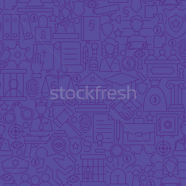 Thin Purple Attorney Lawyer and Justice Line Seamless Pattern Stock photo © Anna_leni