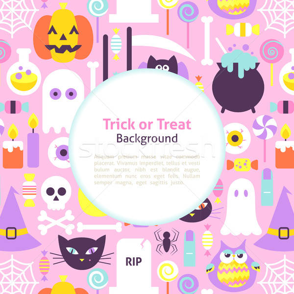 Halloween Trick or Treat Trendy Background Stock photo © Anna_leni