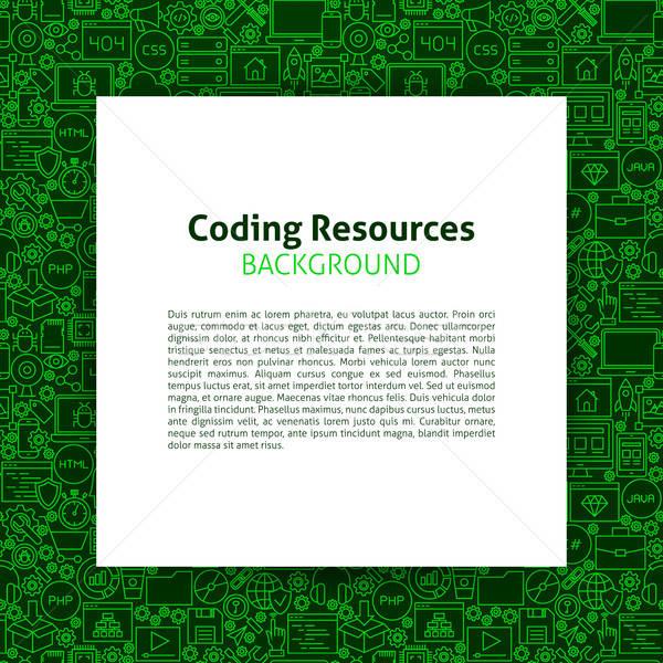 Kódolás erőforrások papír sablon programozás képességek Stock fotó © Anna_leni