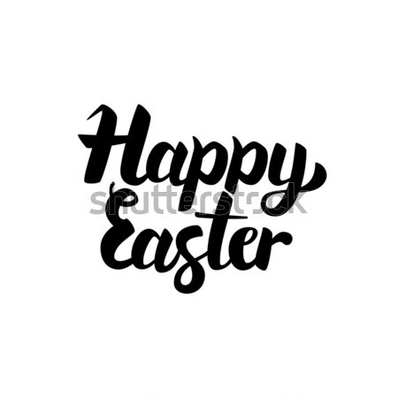 Happy Easter Handwritten Lettering Stock photo © Anna_leni