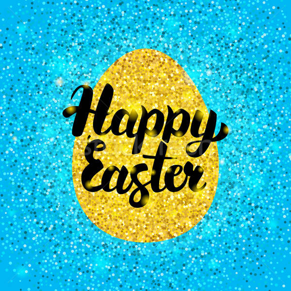 Joyeuses pâques glitter design printemps vacances accueil Photo stock © Anna_leni