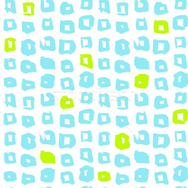 Square Funky Seamless Pattern Stock photo © Anna_leni